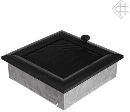Вентиляционная решетка Kratki 17x17 Оскар черная с жалюзи