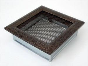 Вентиляционная решетка Kratki 17x17 Оскар черная/медь