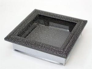 Вентиляционная решетка Kratki 17x17 Оскар черная/хром