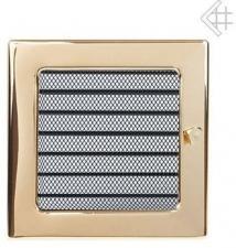 Вентиляционная решетка Kratki 17x17 Полированная латунь с жалюзи