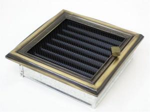 Вентиляционная решетка Kratki 17x17 Рустик с жалюзи