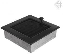 Вентиляционная решетка Kratki 17x17 Черная с жалюзи