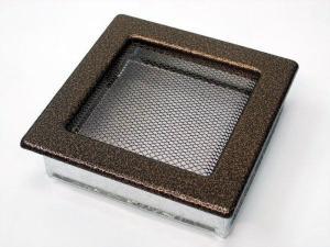 Вентиляционная решетка Kratki 17x17 Черная/медь пористая