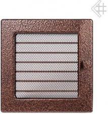 Вентиляционная решетка Kratki 17x17 Черная/медь пористая с жалюзи