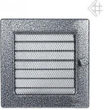Вентиляционная решетка Kratki 17x17 Черная/хром пористая с жалюзи