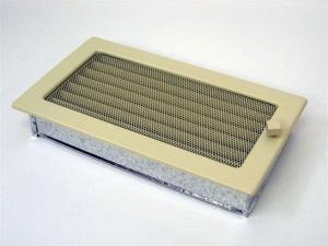Вентиляционная решетка Kratki 17x30 Бежевая с жалюзи