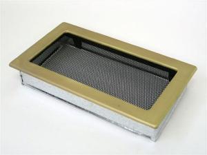 Вентиляционная решетка Kratki 17x30 Гальваника под золото