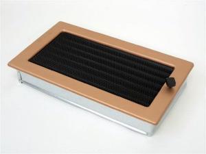 Вентиляционная решетка Kratki 17x30 Гальваника под медь с жалюзи