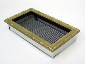 Вентиляционная решетка Kratki 17x30 Диана латунь