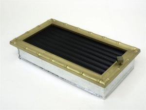 Вентиляционная решетка Kratki 17x30 Диана латунь с жалюзи
