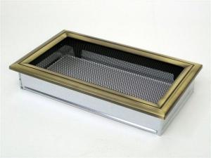 Вентиляционная решетка Kratki 17x30 Оскар латунь