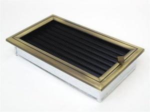 Вентиляционная решетка Kratki 17x30 Оскар латунь с жалюзи