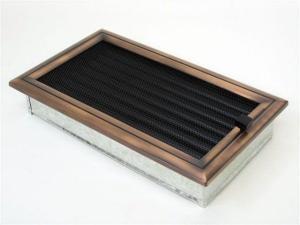 Вентиляционная решетка Kratki 17x30 Оскар медь с жалюзи