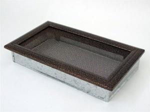 Вентиляционная решетка Kratki 17x30 Оскар черная/медь