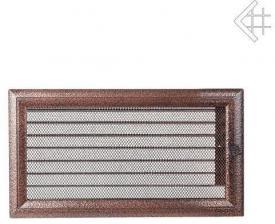 Вентиляционная решетка Kratki 17x30 Оскар черная/медь с жалюзи