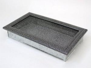 Вентиляционная решетка Kratki 17x30 Оскар черная/хром