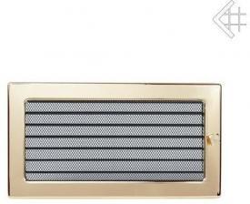 Вентиляционная решетка Kratki 17x30 Полированная латунь с жалюзи