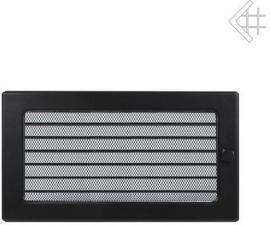 Вентиляционная решетка Kratki 17x30 Черная с жалюзи