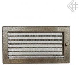 Вентиляционная решетка Kratki 17x30 Черная/латунь пористая с жалюзи