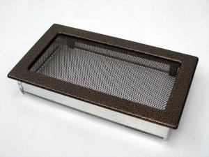 Вентиляционная решетка Kratki 17x30 Черная/медь пористая