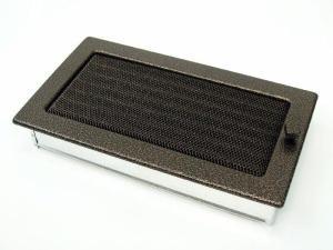 Вентиляционная решетка Kratki 17x30 Черная/медь пористая с жалюзи