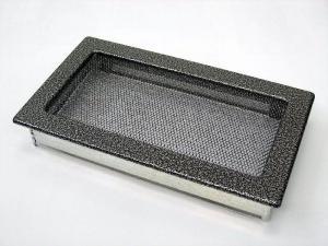 Вентиляционная решетка Kratki 17x30 Черная/хром пористая