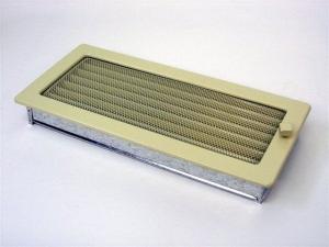 Вентиляционная решетка Kratki 17x37 Бежевая с жалюзи