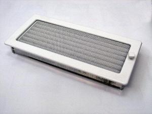 Вентиляционная решетка Kratki 17x37 Белая с жалюзи