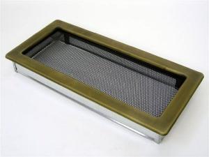 Вентиляционная решетка Kratki 17x37 Гальваника под золото