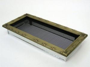 Вентиляционная решетка Kratki 17x37 Диана латунь