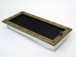 Вентиляционная решетка Kratki 17x37 Диана латунь с жалюзи