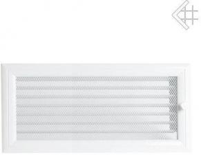 Вентиляционная решетка Kratki 17x37 Оскар белая с жалюзи