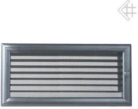 Вентиляционная решетка Kratki 17x37 Оскар графитовая с жалюзи