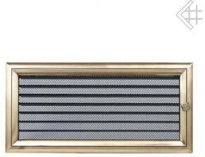 Вентиляционная решетка Kratki 17x37 Оскар латунь с жалюзи