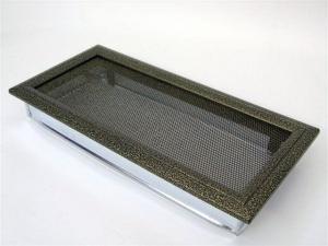 Вентиляционная решетка Kratki 17x37 Оскар черная/латунь