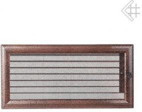 Вентиляционная решетка Kratki 17x37 Оскар черная/медь с жалюзи