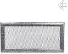 Вентиляционная решетка Kratki 17x37 Оскар черная/хром