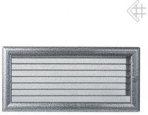 Вентиляционная решетка Kratki 17x37 Оскар черная/хром с жалюзи