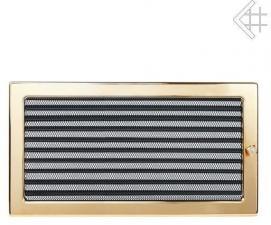 Вентиляционная решетка Kratki 17x37 Полированная латунь с жалюзи