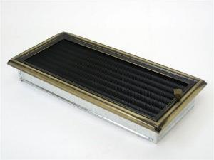 Вентиляционная решетка Kratki 17x37 Рустик с жалюзи