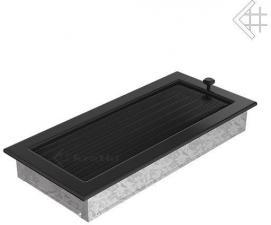 Вентиляционная решетка Kratki 17x37 Черная с жалюзи