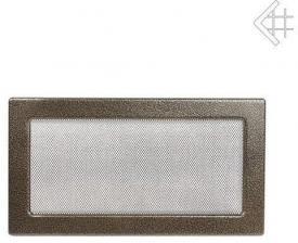 Вентиляционная решетка Kratki 17x37 Черная/латунь пористая