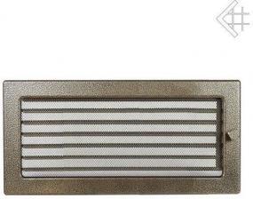 Вентиляционная решетка Kratki 17x37 Черная/латунь пористая с жалюзи