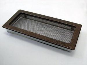 Вентиляционная решетка Kratki 17x37 Черная/медь пористая