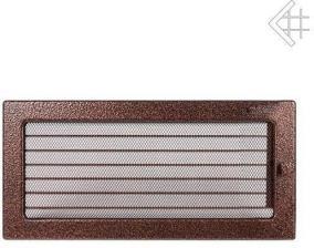 Вентиляционная решетка Kratki 17x37 Черная/медь пористая с жалюзи