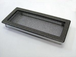 Вентиляционная решетка Kratki 17x37 Черная/хром пористая
