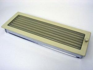 Вентиляционная решетка Kratki 17x49 Бежевая с жалюзи