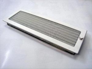 Вентиляционная решетка Kratki 17x49 Белая с жалюзи