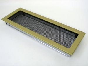 Вентиляционная решетка Kratki 17x49 Гальваника под золото