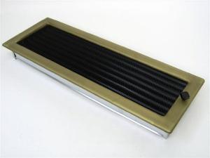 Вентиляционная решетка Kratki 17x49 Гальваника под золото с жалюзи